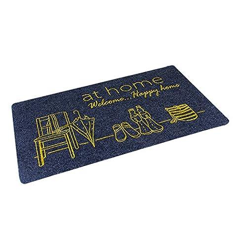 Modernen minimalistischen home Fußmatte/Wohnzimmer Türmatte/Badezimmer wasserabsorbierenden Matte/ die Tür zum Schlafzimmer-Matten-H 40x60cm(16x24inch)