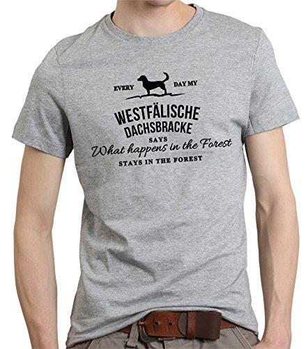 Siviwonder Vintage What Happen Logo WESTFÄLISCHE Dachsbracke Hund Hunde Dachs - Unisex T-Shirt Shirt Sports Grey S -