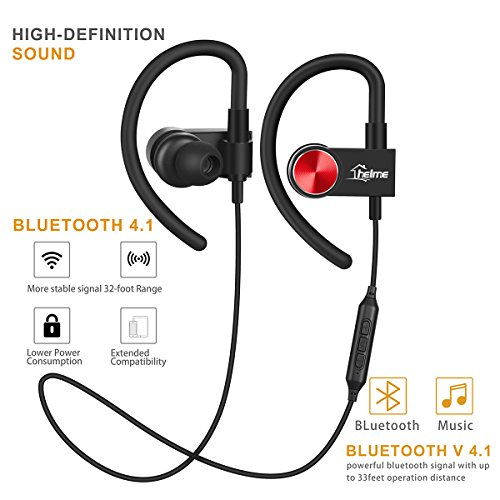 88acee55a06b43 ... Mic iphone samsung Earphones Noise Cancelling Handsfree Headset True HD  Sound Stereo Earpiece CSR 8635 IPX5 Waterproof Sweetproof HELME. Zoom images