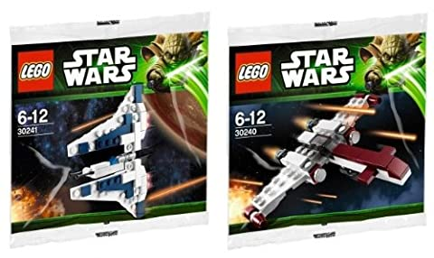 LEGO Star Wars Mini Sets Z-95 HEADHUNTER und Mandalorian Fighter 30240 30241