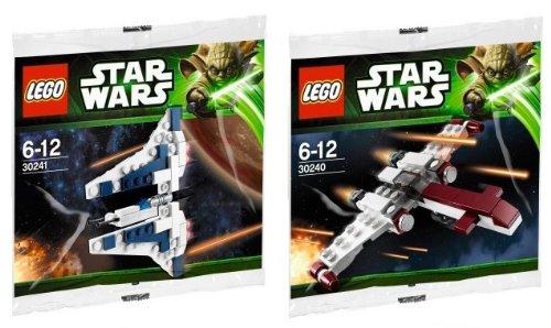 LEGO Star Wars Mini Sets Z-95 HEADHUNTER und Mandalorian Fighter 30240 30241 (Sets Mini Lego Wars Star)