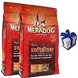 MERA 2 x 12,5 kg Dog Softdiner Hundefutter bei erhöhter Aktivität + Geschenk