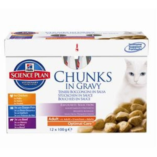 Hill's Science Plan - Cat Feline Pouches - Wet Food - Adult Favourite...