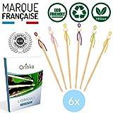 ORINKO - Oriculi en Bambou 6x avec E-Book - Cure Oreille Écologique et Réutilisable à VIE pour Remplacement Coton Tige - Zéro Déchet   é à