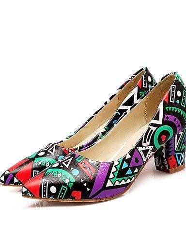 WSS 2016 Chaussures Femme-Bureau & Travail / Habillé / Décontracté-Bleu / Violet / Orange-Gros Talon-Talons / Escarpin Basique / Bout Pointu-Talons purple-us8.5 / eu39 / uk6.5 / cn40