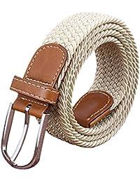 Sanwood Unisex Canvas Plain Metal Buckle Waist Belt Strap