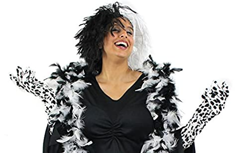 LADIES EVIL DOG LADY HALLOWEEN FANCY DRESS COSTUME SET IDEAL
