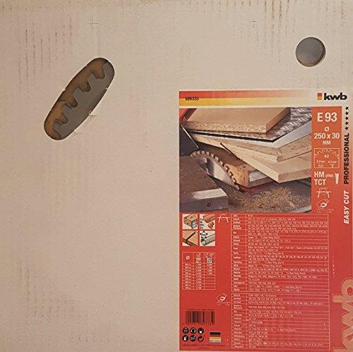 Preisvergleich Produktbild kwb EASY-CUT Allzweck-Blatt für Kappsäge und Handkreissäge, Made in Germany, Ø 250 x 30 mm, 42 Zähne