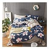CSYPYLE Bettwäschesatz Komfortable Soft Persönlichkeit Kreative Große Blumenmuster Weiche Haut Freundliche Bettwäsche Bettbezug Bettlaken Kissenbezug, 1,5 Mt 1,8 Mt