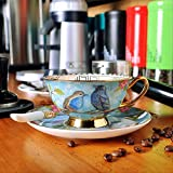 YMKCMC Becher Alte Porzellan Kaffeetasse Dish Suits Keramik Phnom Penh Nachmittagstee Tassen 220Ml A