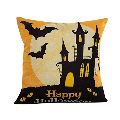ssenbezug,Halloween Sofa Bed Home Decor Kissenbezug Kissenbezug (C) (Halloween Grabsteine Cartoon)