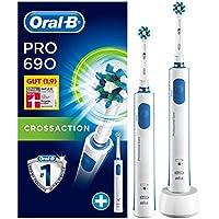 Oral-B PRO 690 Elektrische Zahnbürste, für eine gründliche Reinigung, mit 2 Handstück, weiß