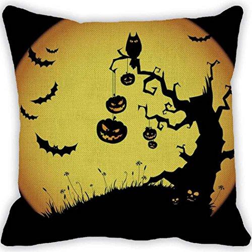 Zolimx Halloween Kürbis Platz Kissenbezug Kissenhülle Reißverschluss Pillowcase (Kleidung Reißverschluss Kostüm Gesicht)