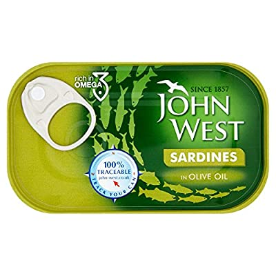 Sardines in Olive Oil, 120g, Pack of 12 by John West