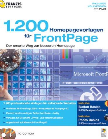 1200 Homepage Vorlagen für FrontPage