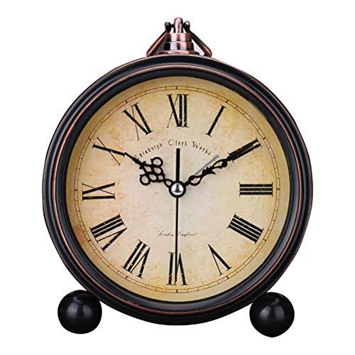 Surenhap - Reloj Despertador analógico Vintage silencioso