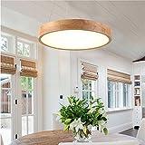 LED Modern Pendelleuchte holz rund hängelampe pendellampe dimmbar Deckenlampe Höhenverstellbar Licht Wohnzimme Schlafzimmer
