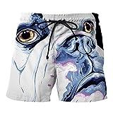 Btruely Shorts Herren Sommer Fitness Gürtel Baggy Freizeitshose 3D Dog Printed Strandhosen Männer Jogginghose Herren Sportshort Kurz Hosen Fashion Slacks