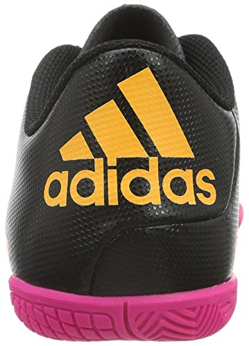 adidas X 15.4 IN, Chaussures de Football Garçon Noir - Schwarz (Core Black/Shock Pink/Solar Gold)