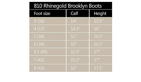 Rhinegold Elite Colorado Long Country Walking Yard ciré marron Bottes en daim Marron Marron 4 UK