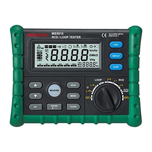 MASTECH MS5910Professional GFCI Tester Circuit trip-out Strom/Zeit Test RCD/Loop Widerstand Messgerät mit USB-Schnittstelle