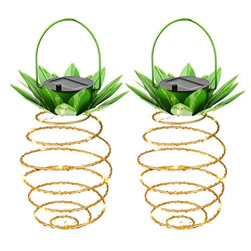 (Solarleuchte Außen Solar Laterne,SUAVER Wasserdicht LED Solar Hängeleuchte Ananas Fairy String Light Garten Dekoration Lampe (2er Pack) für Haus, Garten, Wege, Baum etc (Warmweiß))