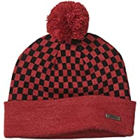 Vans Men's M CHECKERBOARD POM P HEATHER BLACK Beanie
