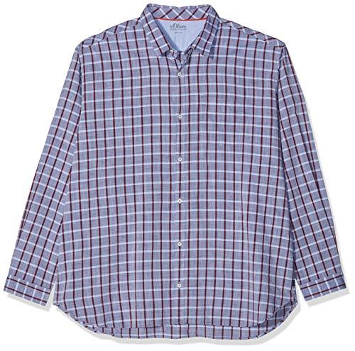 s.Oliver Big Size Herren Businesshemd 15.901.21.2608 Blau (Midnight 57n2) XXXX-Large (Herstellergröße: 4XL)