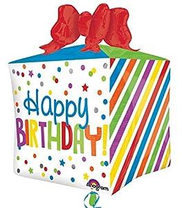 """Amscan International-3456501""""Presente Feliz cumpleaños Ultra forma globo en forma de"""""""