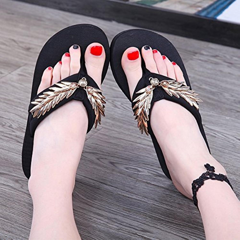 les femmes lixiong pantoufles de métal épais mode vacances l'été chaussure, des ailes fond chaussure, l'été avec une hauteur... 980782