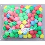 Coface 150Pcs Scrub Mesa de ping pong de la bola del ping-pong de la bola Bolas de la lotería multicolor