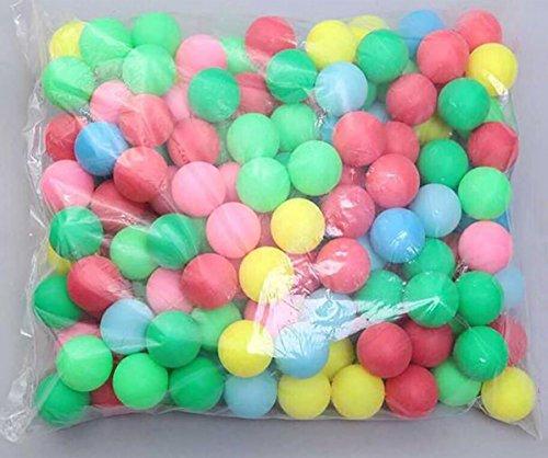 Coface 150pcs Scrub boules de loterie balle de ping pong ping pong ball Multicolor