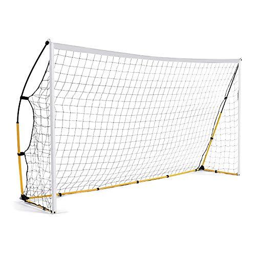 WXH Ultra-tragbares Fußballtorschleifennetz, schneller Aufbau, faltbares Design, langlebige, leichte vertikale Stangen, für Übungs-Torpfosten
