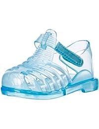 Niños AQUA-SPEED zapatillas flip flop/Zapatillas de baño con suela antideslizante Inka 483-01 (azul, 18)