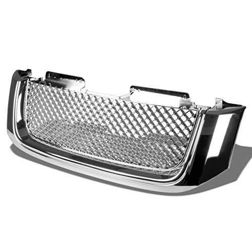 gmc-envoy-xl-abs-plastic-sport-mesh-front-bumper-grille-chrome-2nd-gen-by-auto-dynasty