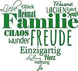 GRAZDesign 300207_30_WT062 Wandtattoo Familien - Tattoo als Herz an die Wand - Wand-Deko für Wohnzimmer/Schlafzimmer / Küche (33x30cm // 062 hellgrün)