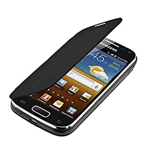 kwmobile Practical and chic FLIP COVER case for Samsung Galaxy Ace 2 i8160 in Black