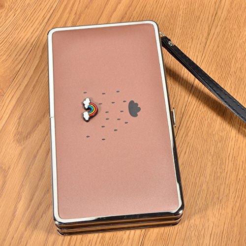 Portafogli da Donna Borsa con diamante tacchi alta modello, Sunroyal Multifunzionale [Grande capacità] Smartphone Wristlet Custodia Case Cover per iPhone 7 /7Plus /6S /6S Plus /6 /6Plus /SE /5S, Samsu Modello 43