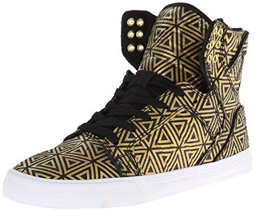 Supra SKYTOP, Sneaker alta Donna, Oro (Gold (GOLD/BLACK   GLB)), 38 (4.5 uk)