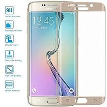 Protector de Cristal Templado Curvo 3D Samsung Galaxy S6 Edge Plus Color Dorado