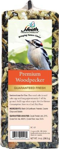 Heath Outdoor Products SC-43 Premium Specht-Samen-Kuchenleiste, ca. 400 ml (Bird Seed Feeder-kuchen)