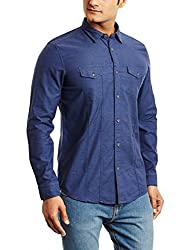 blackberrys Mens Casual Shirt (8907196088107_US-IDG07_40_Indigo)