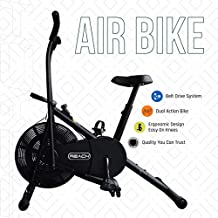 Reach AB-110 Air Bike Exercise Fitness Cycle with Moving or Stationary Handle Adjustments for Home