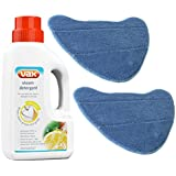 SPARES2GO Detergent & Microfibre Pads For Vax S7 S7-A S7-A+ Series Steam Cleaner Mops (2 Pads, 1 Detergent)