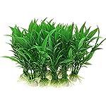 Brezeh 10Pc Artificial Aquatic Plants Plastic Plant Fish Tank Aquarium Green Water Grass Landscape Decoration Ornament 3
