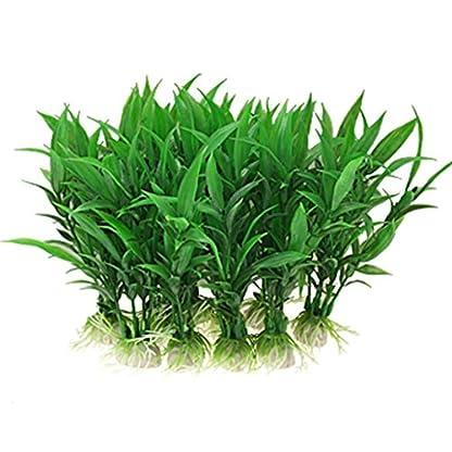 Brezeh 10Pc Artificial Aquatic Plants Plastic Plant Fish Tank Aquarium Green Water Grass Landscape Decoration Ornament 1