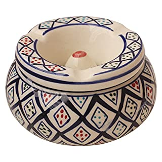 Xmas Gifts 2017 - AB Handicrafts - Ceramic Cigarette Ashtray for Men and Women, Outdoors and Indoors Ash Tray - Desktop Smoking Ash Tray for Home office Decoration