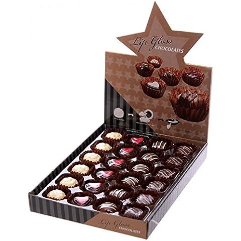 STOCK LOTTO 24 PEZZI Lipgloss lucidalabbra a forma di cioccolatino
