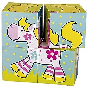 Goki-57511 Puzzles 3DPuzzles 3DGOKIPuzzle de Cubos, mis Amigos, Susibelle, (Gollnest & Kiesel KG G1067/57511)