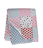 Krasilnikoff Tagesdecke/Quilt/Bettüberwurf/Decke/- Baumwolle - Pink/Bunt - Patchwork - 130x180 Cm